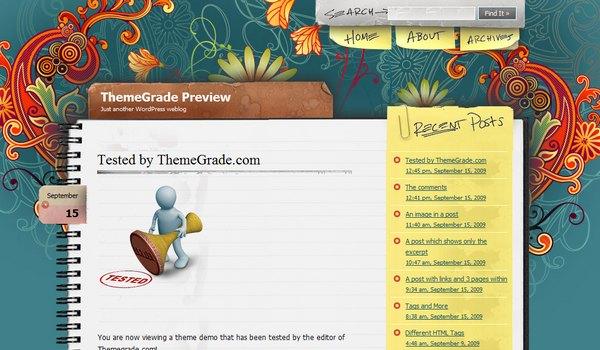 Notepad Chaos WordPress Theme Review