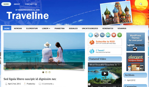 Traveline WordPress Theme Review